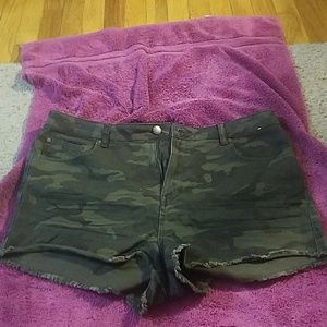 Camouflage shorts by Denim Company from Primark